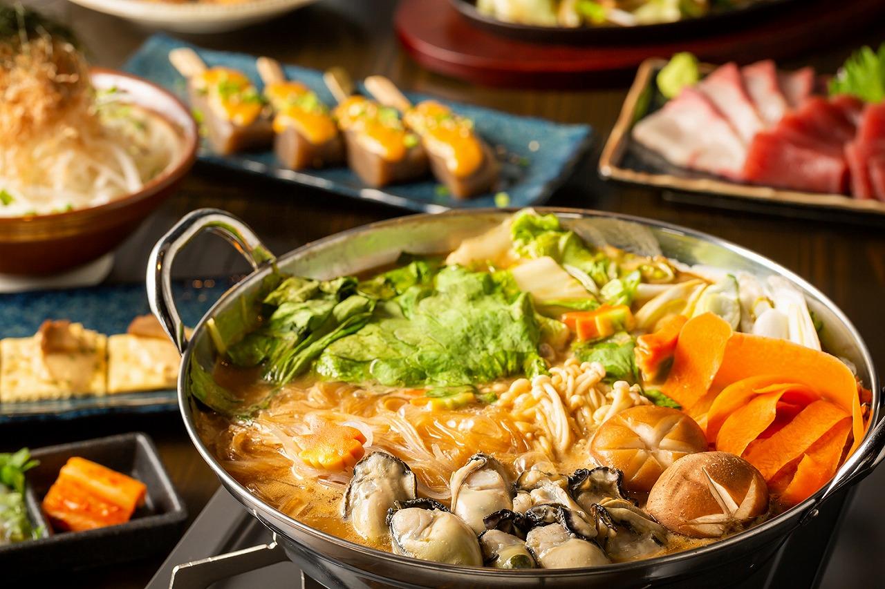牡蠣の土手鍋 コース料理 広島 居酒屋 忘年会