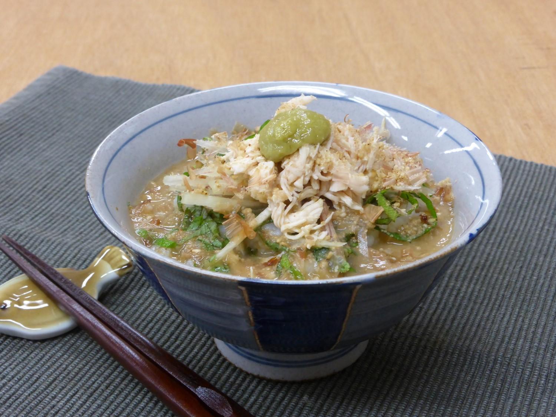 和風「梅風味わさび冷や汁」の作り方のポイントは味のアクセント